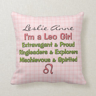 Baby Girl Leo Zodiac Personalized Pillow