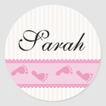 Baby girl name stickers
