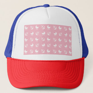 Baby girl nautical pattern trucker hat
