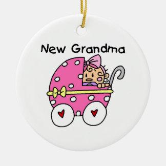 Baby Girl New Grandma Gifts Round Ceramic Decoration
