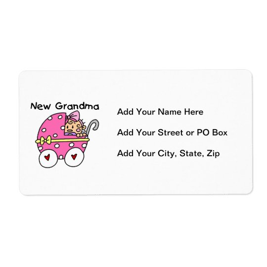 Baby Girl New Grandma Gifts Shipping Label