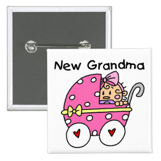 Baby Girl New Grandma T-shirts and Gifts Pins