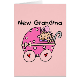 Baby Girl New Grandma T-shirts and Gifts Greeting Card