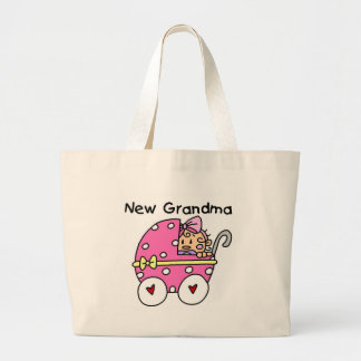 Baby Girl New Grandma T-shirts and Gifts Canvas Bags