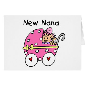 Baby Girl New Nana T-shirts and Gifts Card