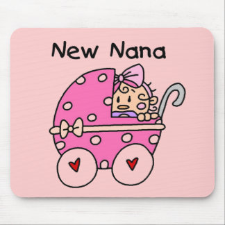 Baby Girl New Nana T-shirts and Gifts Mouse Pad