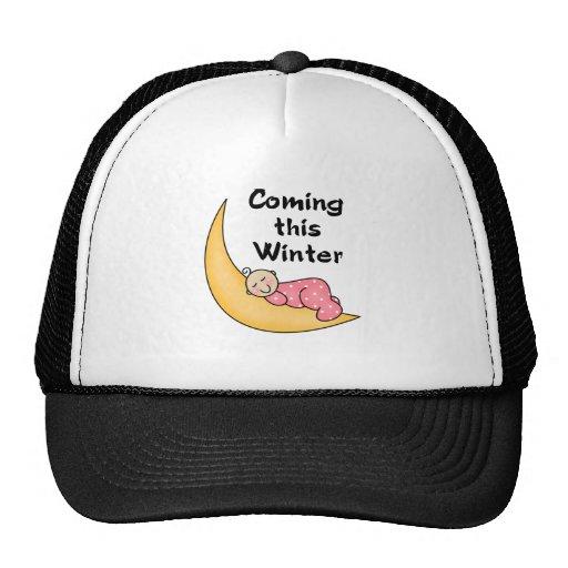 Baby Girl on Moon Winter Hat