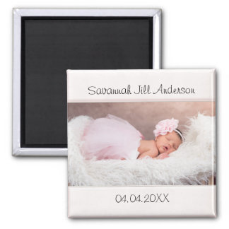 Baby Girl Pale Pink Photo Magnet