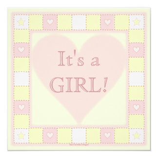 Baby Girl Patchwork Quilt Baby Shower Invitation