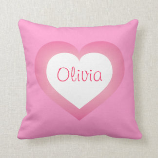 Baby Girl pink and white heart Cushion