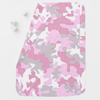 Baby Girl Pink Camouflage Baby Blanket