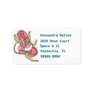 Baby Girl Pink Converse Type Shoes Return Address Address Label