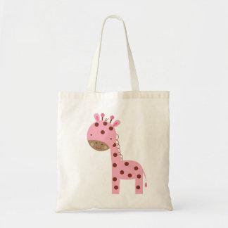 Baby Girl Pink Giraffe Tote Bag