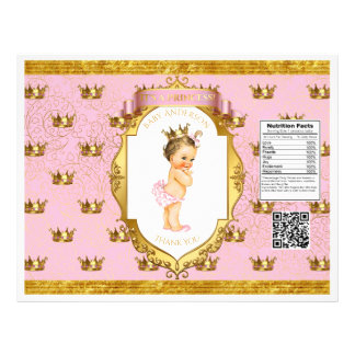 Baby Girl Pink Gold Chip Bag Wrappers