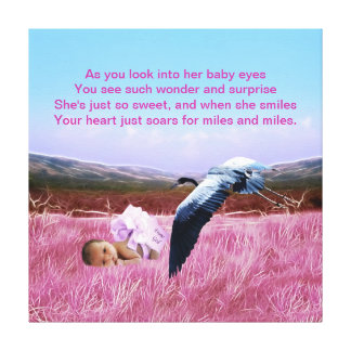 Baby Girl poem Canvas Print