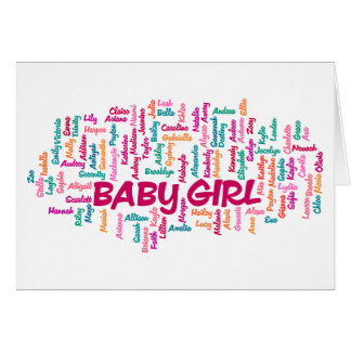 Baby girl pregnancy announcement card
