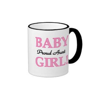Baby Girl Proud Aunt Coffee Mugs