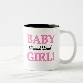 Baby Girl Proud Dad Two-Tone Coffee Mug