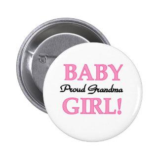 Baby Girl Proud Grandma  6 Cm Round Badge