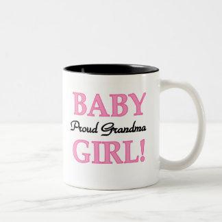 Baby Girl Proud Grandma  Mugs
