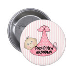 Baby Girl Proud Grandma Pinback Button