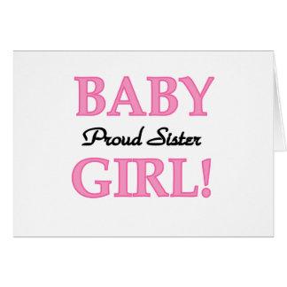 Baby Girl Proud Sister Greeting Card