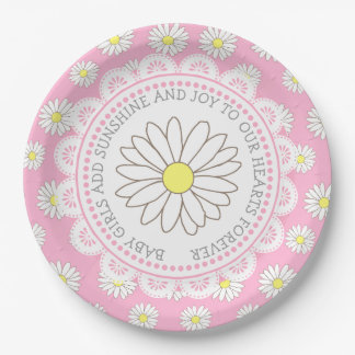 Baby Girl Quote Daisy Themed Baby Shower Plates