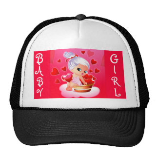 Baby Girl Red graphic hat