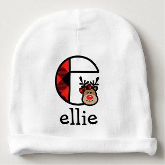 Baby Girl Reindeer Hat Girls Monogram Beanie E Baby Beanie