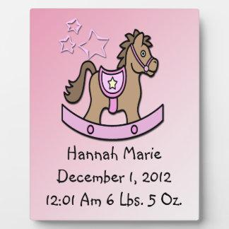 Baby Girl - Rocking Horse Keepsake Plaque