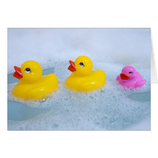 Baby Girl Rubber duck Card