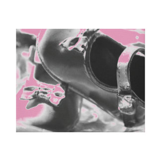 Baby Girl Shoes Design Stretched Canvas Print