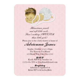 Baby Girl Shower Invitations PINK Princess 147