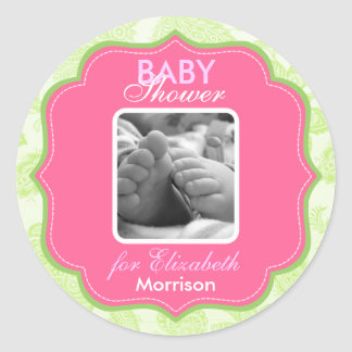Baby Girl Shower Stickers