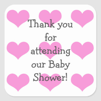 Baby Girl Shower Stickers
