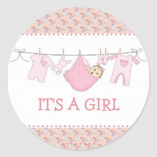 its a girl baby shower stickers