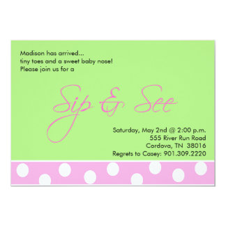 Baby Girl Sip and See Invitations