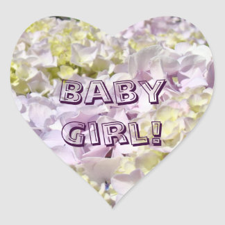 Baby Girl! stickers Pretty Lavender Flowers Petals