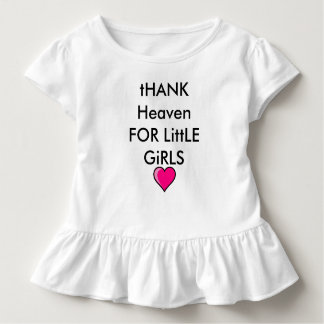 Baby Girl Sweet Outfit Love Heaven Heart Ruffles Toddler T-Shirt