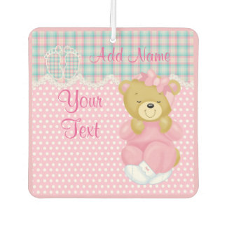 """Baby Girl Teddybear"" Car Air Freshener"