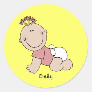 Baby Girl Template Sticker