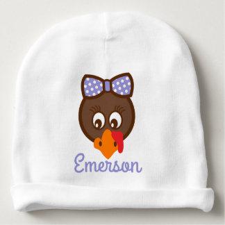 Baby Girl Thanksgiving Hat Turkey Face Beanie Baby Beanie