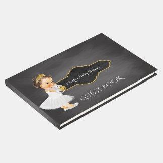 Baby Girl Tiara   Chalkboard Baby Shower Guest Book