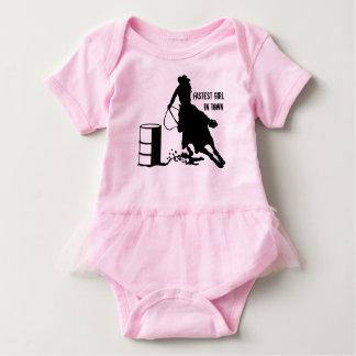 Baby Girl TuTu Cowgirl Barrel Racer Baby Bodysuit