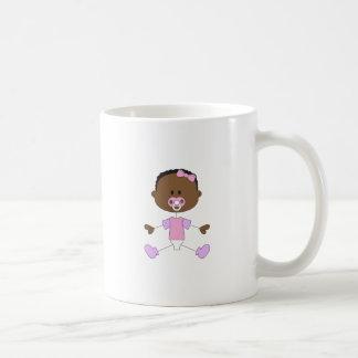 BABY GIRL WITH PACIFIER MUG