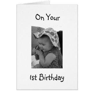 BABY GIRL'S 1st BIRTHDAY CARD