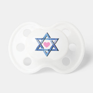 Baby Girl's Blue Star of David Hanukkah Pacifier