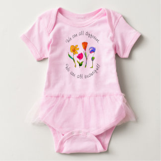 Baby Girls We Are All Beautiful Inspirational Baby Bodysuit