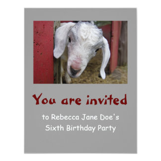 Baby Goat Birthday Party Invitation