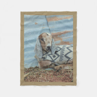 Baby Goat Fleece Blanket